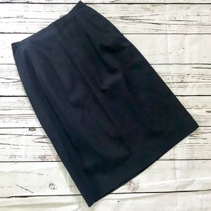 Vintage 1960's navy blue pencil skirt